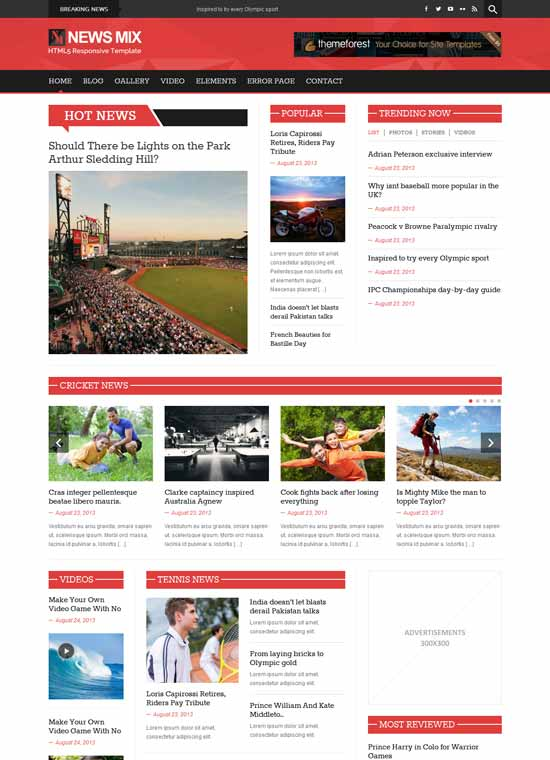 Free WordPress Themes 2014