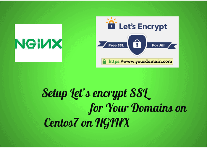 Setup Lets Encrypt Ssl For Your Domains On Centos7 On Nginx Wp Doze